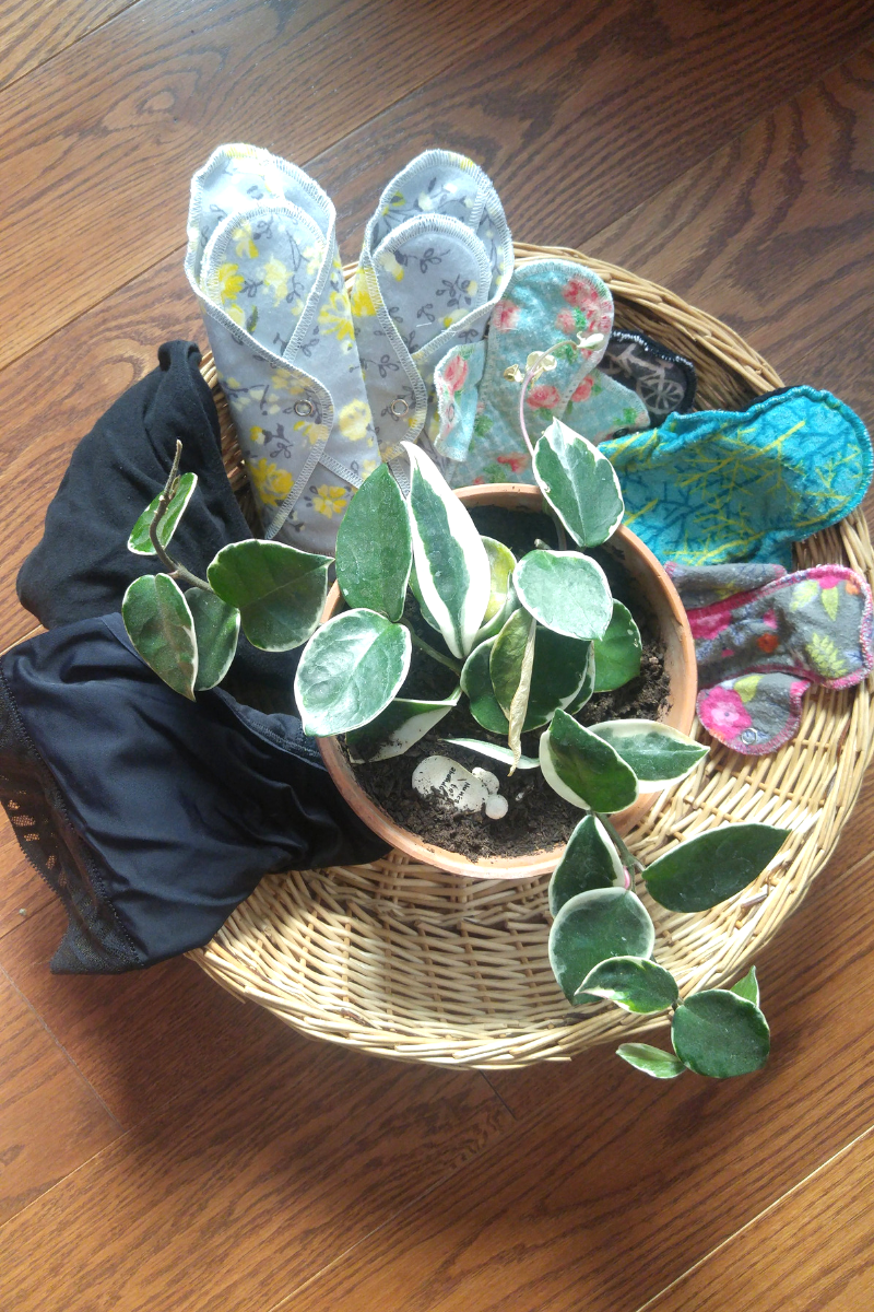 Basket of menstrual products