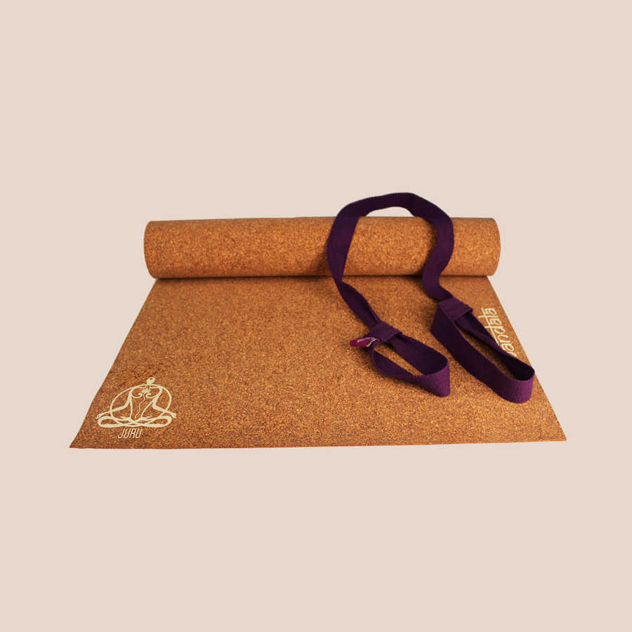 Juru Mandala recycled rubber and cork yoga  mat