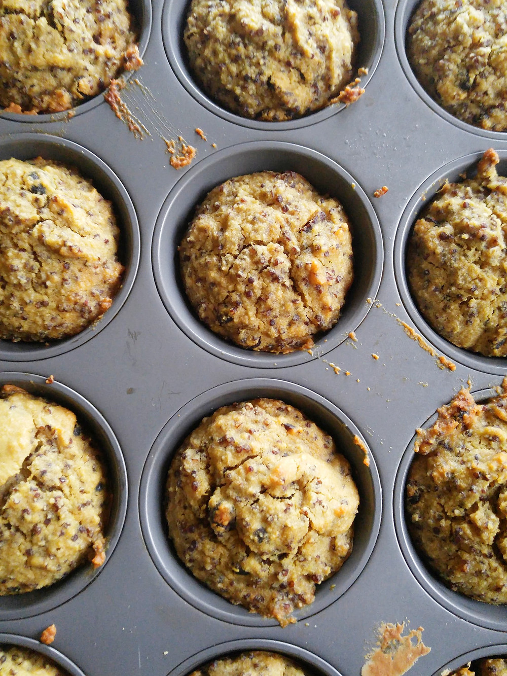 Red Quinoa Cranberry Muffins