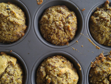 Red Quinoa Cranberry Muffins