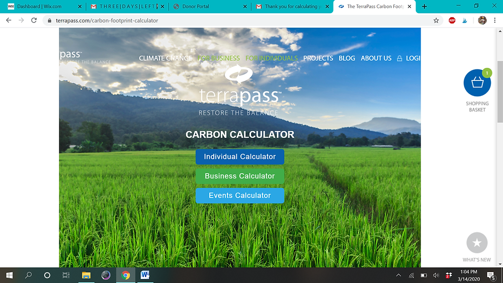 TerraPass Carbon Footprint Calculator
