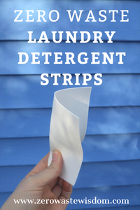 Zero Waste Laundry Detergent Strips
