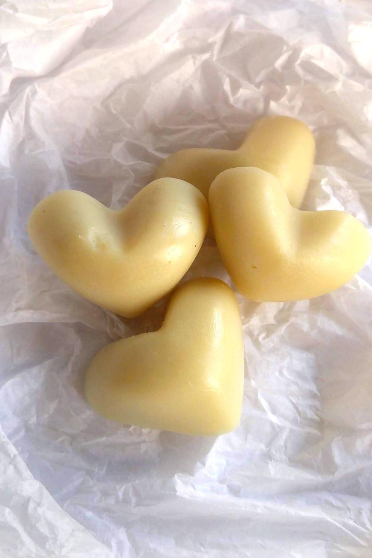 Lotion bars in heart shape