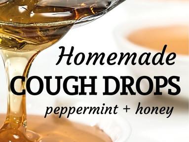 DIY Peppermint Honey Cough Drops