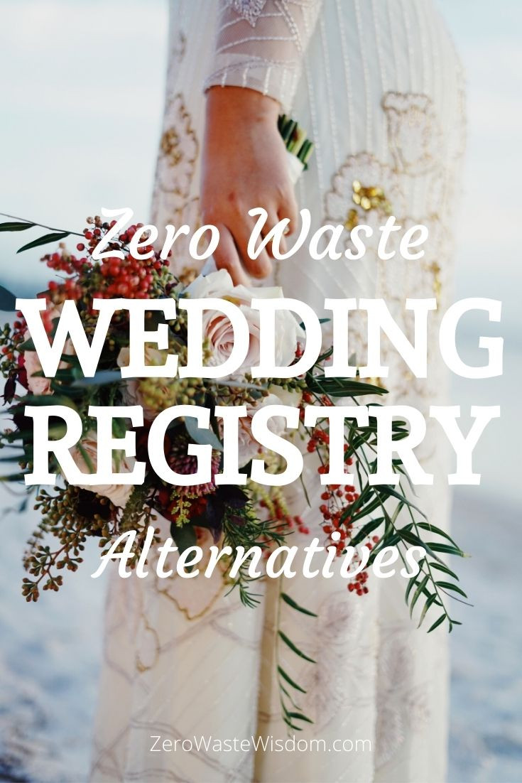 zero waste wedding registry alternatives pinterest pin