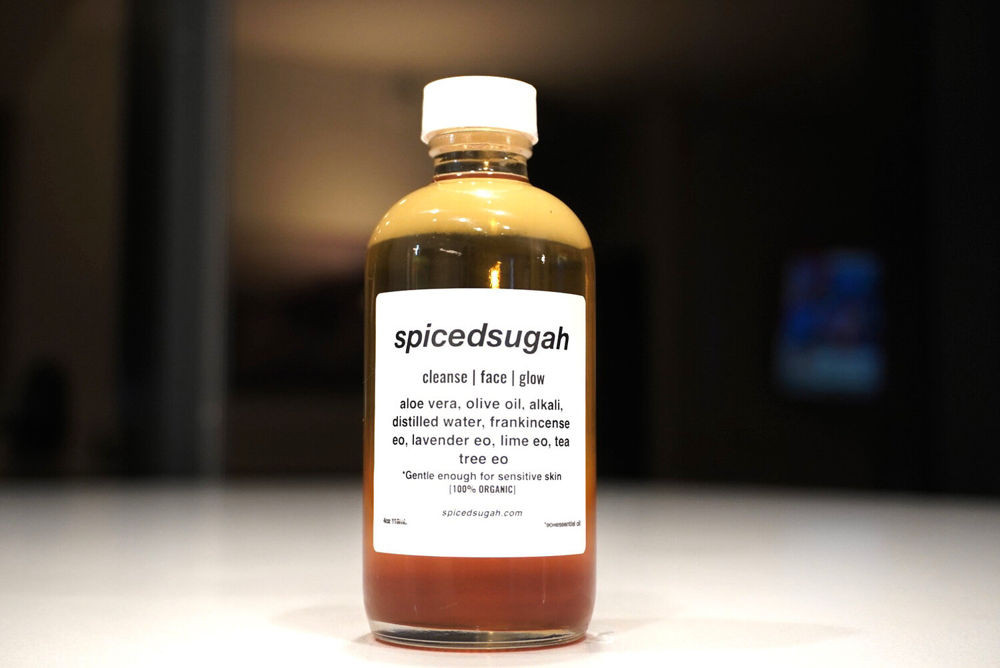 Spiced Sugar bottle of cleansing facial oil