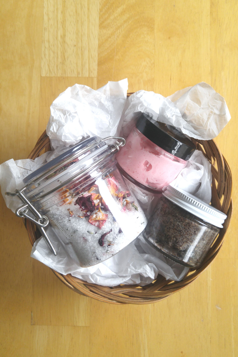 Basket with DIY products