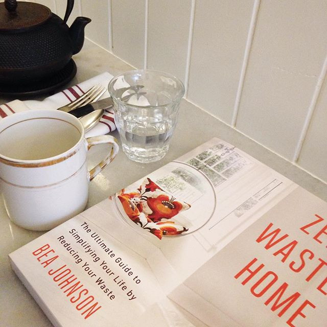 Zero Waste Home book on a table