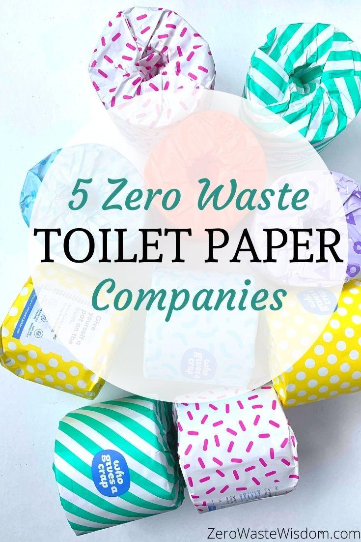 5 Zero Waste Toilet Paper Companies pinterest pin