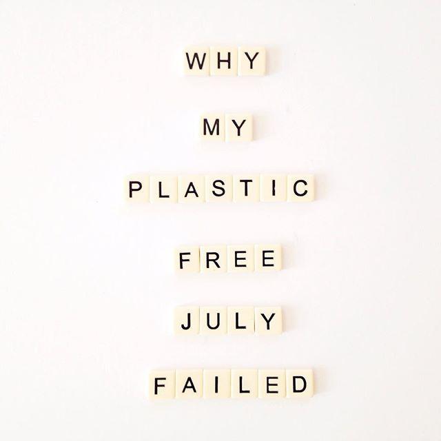 Plastic Free July Sign
