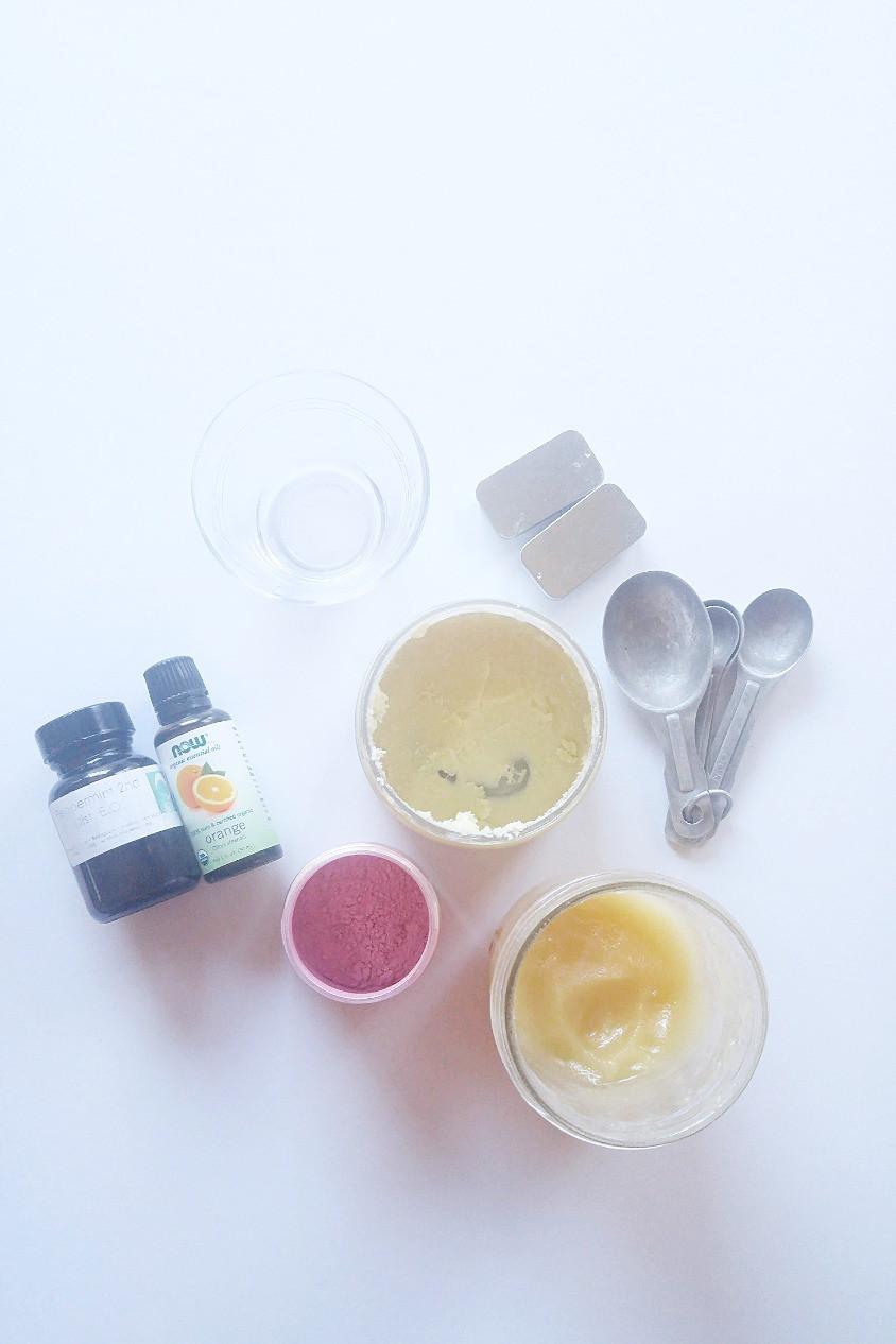 Shea butter lip balm ingredients
