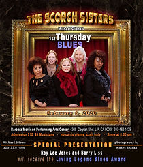 Scorch Sisters 1st Thursday Blues Ad 2-6