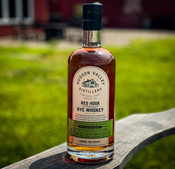 Red Hook Rye Whiskey Bottle on Chair - 7