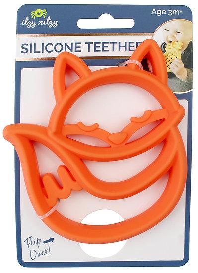 Itzy Ritzy Chew Crew Silicone Baby Teether - Fox