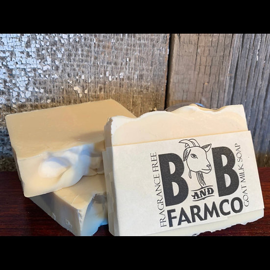 B&B Farmco - Fragrance Free Goat Milk Soap