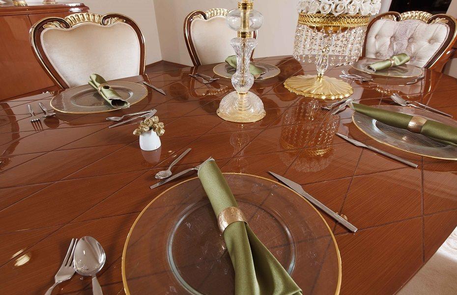 Babür Klasik Yemek Odası Takımı 11