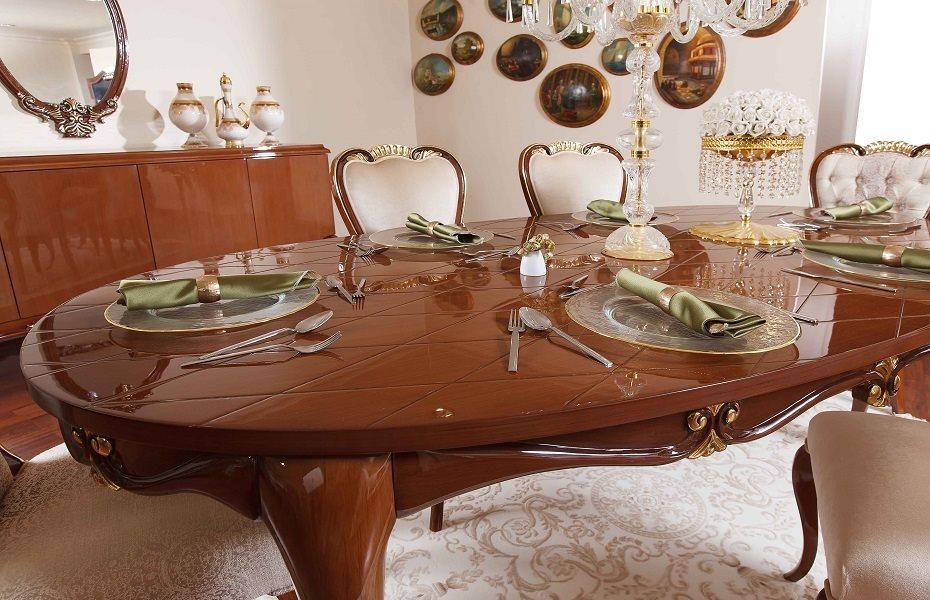 Babür Klasik Yemek Odası Takımı 8