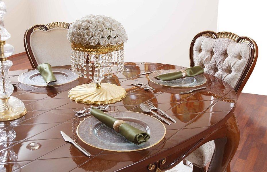 Babür Klasik Yemek Odası Takımı 9