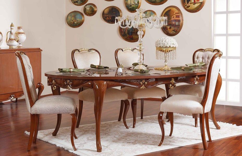 Babür Klasik Yemek Odası Takımı 7