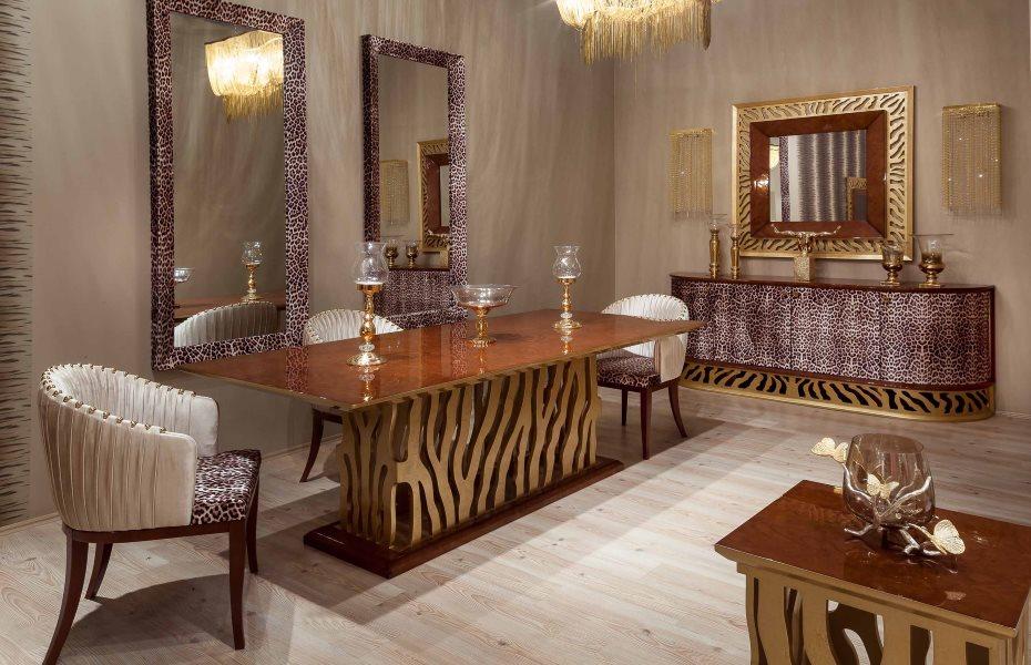 Leopar Klasik Yemek Odası Takımı 2
