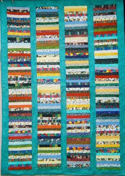 Multi-Colored Strip Quilt