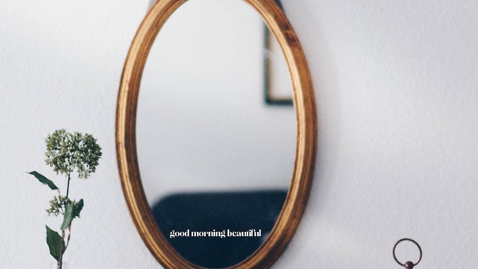 Good Morning Beautiful Mirror Decal