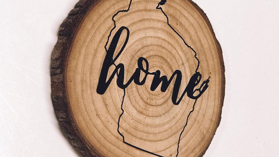 Wisconsin Wood Slice Coasters