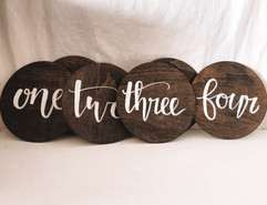 Handwritten Wooden Table Numbers
