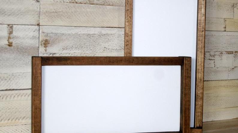 Wood Framed Sign