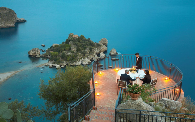 Cena vista Isola Bella