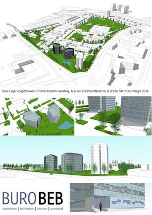 Twee legeringshotels in aanbouw.            TvZ Kazerne, Breda
