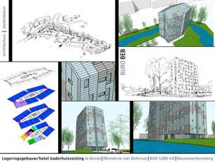 Start bouw legeringshotel te Breda.