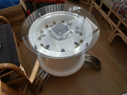 Aircraft Wheel coffee table