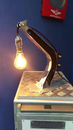 Seat leg polished desk lamp
