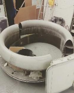 Airbus A321 engine intake sofa