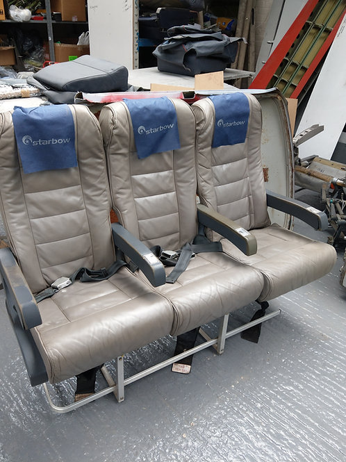 Grey triple row leather seats