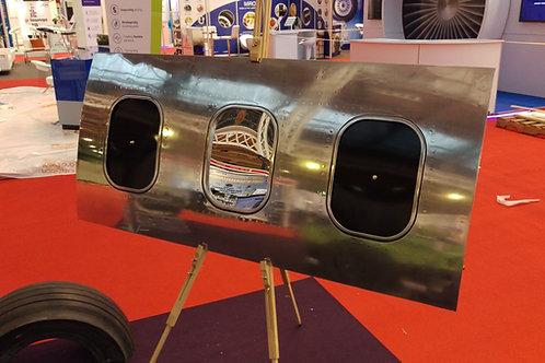 Polished Boeing 737 3 window mirror/clocks