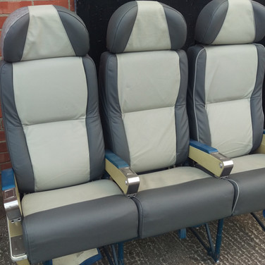 triple row of leather seats