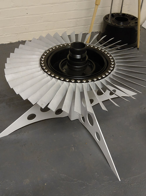 Engine compressor section coffee table