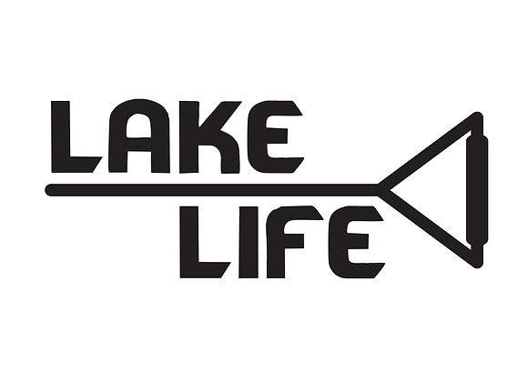 Lake Life Boarding Vinyl Decal