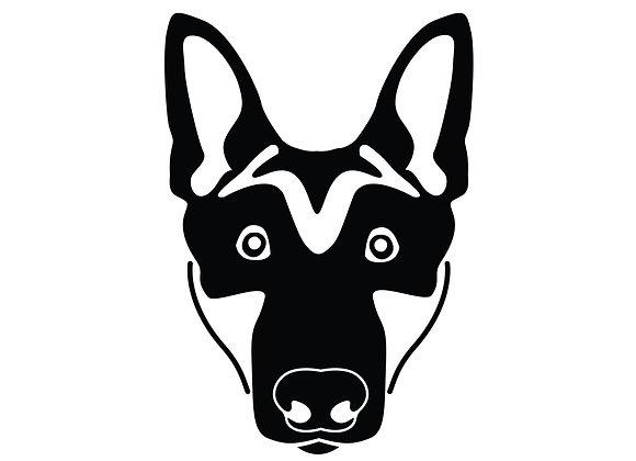 German Shepherd Vinyl Decal