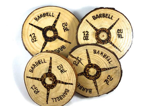 12oz Curl Wooden Coasters