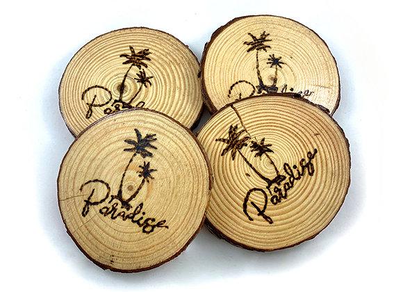 Paradise Wooden Coasters
