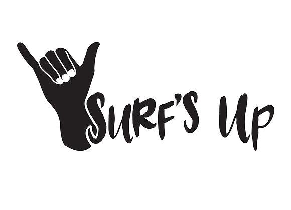 Surfs Up Shaka Vinyl Decal