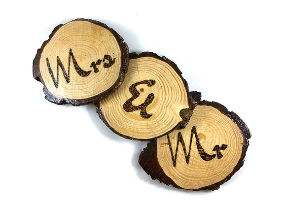 Mr & Mrs Wooden Coasters
