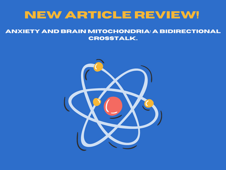 Article Review: Anxiety and Brain Mitochondria: A Bidirectional Crosstalk.