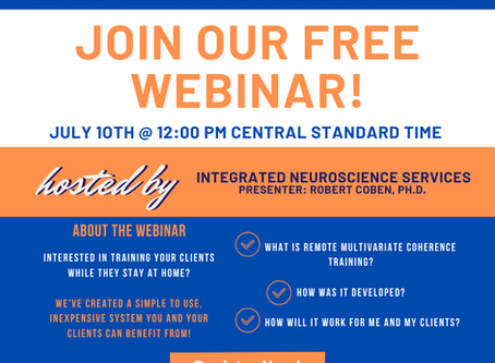 July 10th - FREE WEBINAR - Remote Multivariate Coherence Training