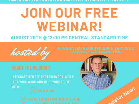 FREE WEBINAR - Remote Photobiomodulation or Light Therapy