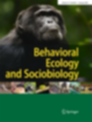 January 2020 cover of Behavioral Ecology and Sociobiology