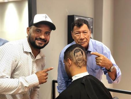 Barbearia de Sulacap recebe profissional de realismo capilar